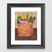 Healthy Equals Happy Framed Art Print