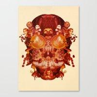 Coffee & Owls & Death Canvas Print