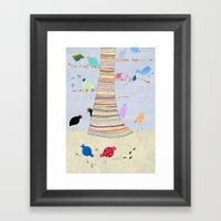 Gossiping Birds Framed Art Print