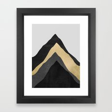 Four Mountains Framed Art Print