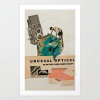 Unusual Optical  Art Print