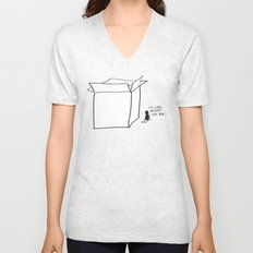 It's cold outside the box... Unisex V-Neck