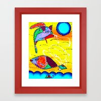 COMET & LILA Framed Art Print