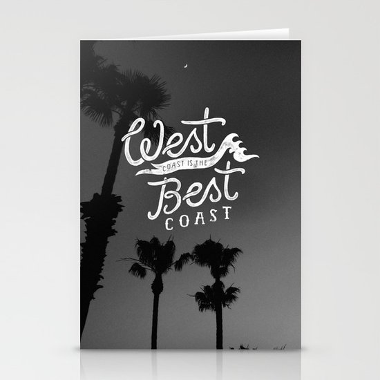 West Coast is the Best Coast Stationery Card