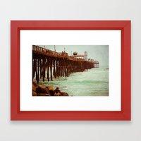 Oceanside Pier Framed Art Print