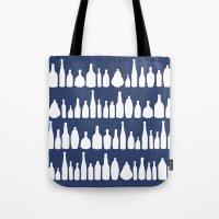 Bottles Navy Tote Bag