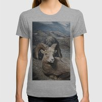Tom Feiler Sitting Ram Womens Fitted Tee Athletic Grey SMALL