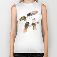 summer cicadas Biker Tank