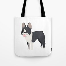 Happy Boston Terrier Tote Bag