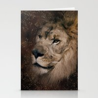 The Male Lion With Textu… Stationery Cards
