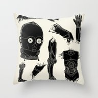 Throw Pillow featuring Decommissioned: C-3P0 by Josh Ln