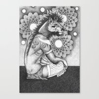 A young wizard Canvas Print