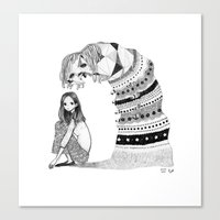 Lonely Monster Canvas Print
