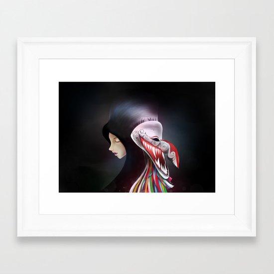 women_ผีตาโขน Framed Art Print