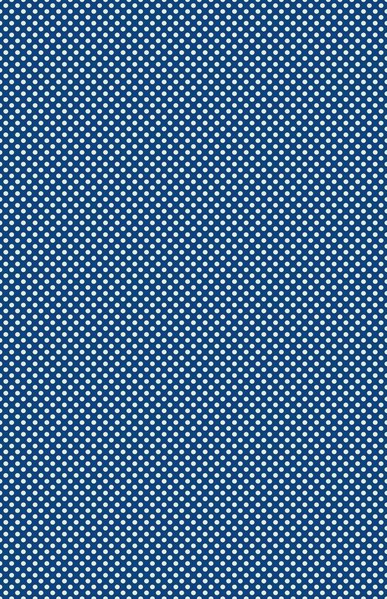 Navy Spotty Pattern Design Art Print