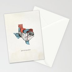 The Heart of Texas (Red, White and Blue) Stationery Cards