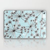 Contemporary Cow Parsley… Laptop & iPad Skin