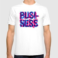 Business & Pleasure Mens Fitted Tee White SMALL