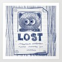Wanted Poster - Tony is missing 1/4 Art Print