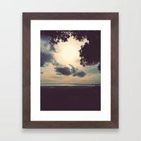 Overcast Bay  Framed Art Print