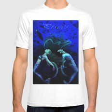 Pisces White Mens Fitted Tee SMALL