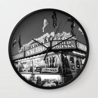 Fair Food B&W Wall Clock