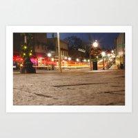 Downtown Blacksburg Chri… Art Print