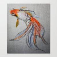 Goldfish Pond (close Up … Canvas Print