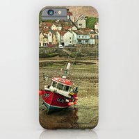 Three Red Boats at Staithes iPhone 6 Slim Case
