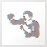 Boxing Ali (coulour) Art Print