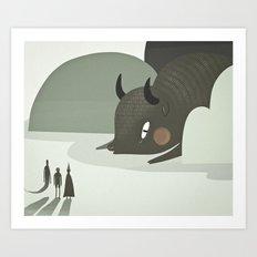 so they went to where the buffalos roamed. Art Print