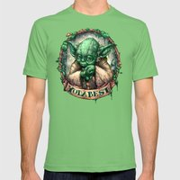 YoDaBeSt Mens Fitted Tee Grass SMALL