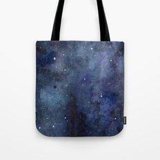 Night Sky Stars Galaxy | Watercolor Tote Bag
