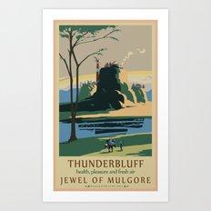 Thunder Bluff Classic Rail Poster Art Print