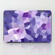 Abstract Floral In Blue … iPad Case