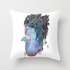 moth effect Throw Pillow