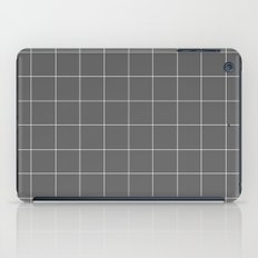 Grey and White Grid iPad Case