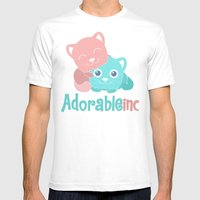 AdorableInc Mens Fitted Tee White SMALL