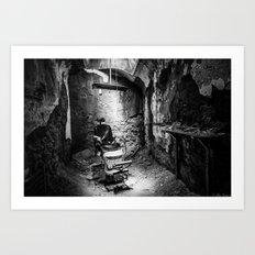 Shadow Barber Art Print