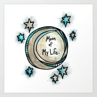 Moon of My Life - Khal and Khaleesi Art Print