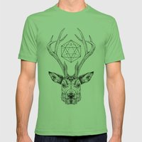 Stag Mens Fitted Tee Grass SMALL