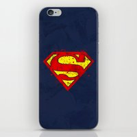 Super Man's Splash iPhone & iPod Skin