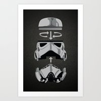 Construct-a-trooper. Art Print