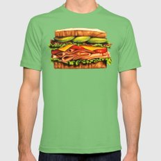 Sandwich Print Mens Fitted Tee Grass SMALL