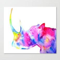 Rhinoceros, nature Canvas Print