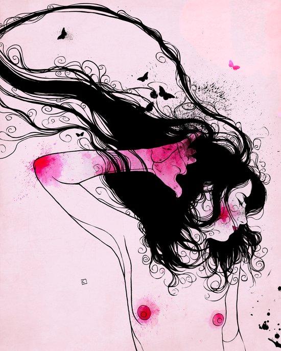 MARIPOSA ROSA Canvas Print
