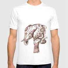 Elephant Mens Fitted Tee White SMALL