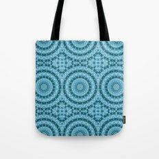 Light Blue Kaleidoscope / Mandala Tote Bag
