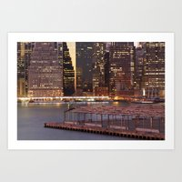 a city never sleeps Art Print