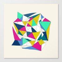Geometric World Canvas Print